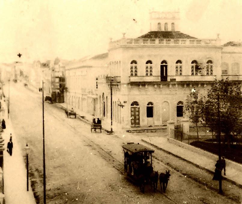 Avenida Independência, em 1890, em Porto Alegre.