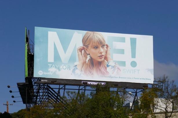Me Taylor Swift Spotify billboard