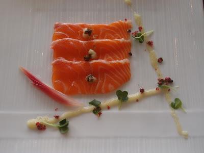 Marinated Salmon with Yuzu Ginger Dressing