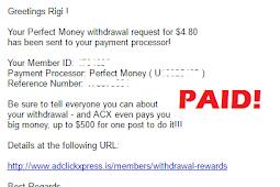 Bukti Pembayaran dari Situs ACX Search (Payment Proof AdclickXpress)