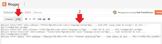 Cara Parse Convert Kode Iklan dan HTML Blogger