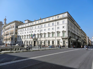 The Palazzo Chigi, the Italian PM's official residence