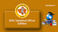 RPSC Statistical Officer Syllabus