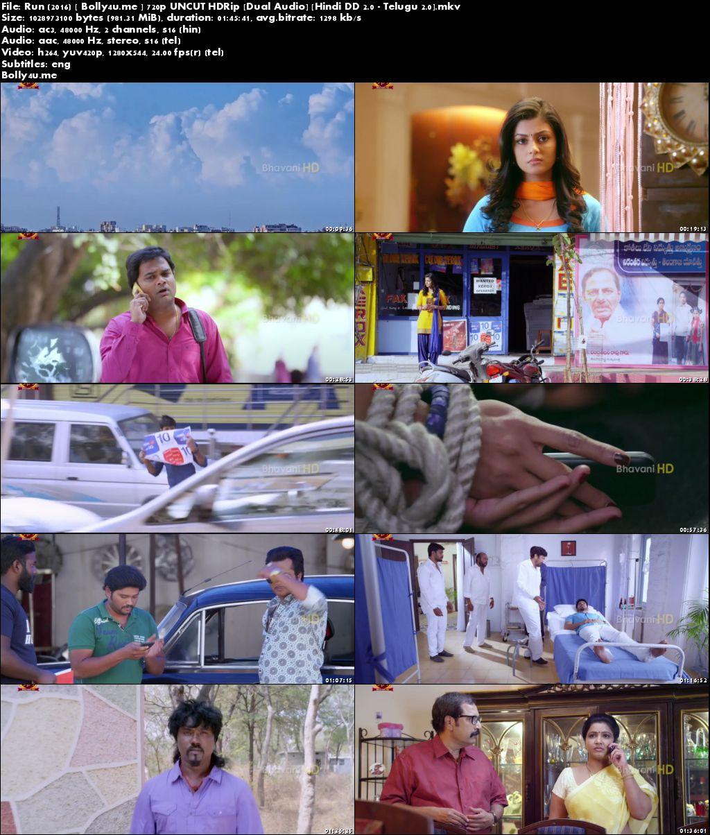 Run 2016 HDRip 350MB UNCUT Hindi Dual Audio 480p ESub Download