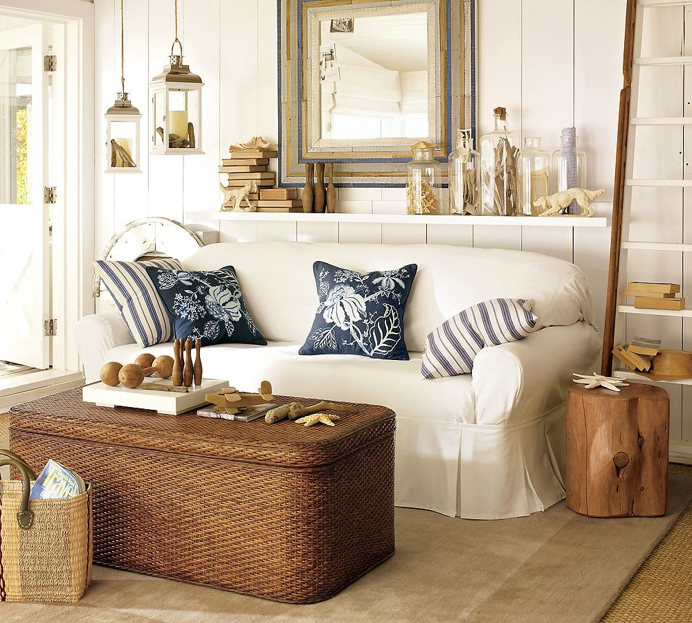 Beach style homes house furniture - Beach style living room ...