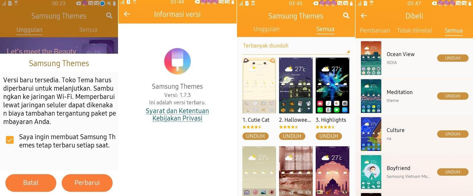 Pembaruan Tizen Store dan Samsung Theme ke versi 1 7 3