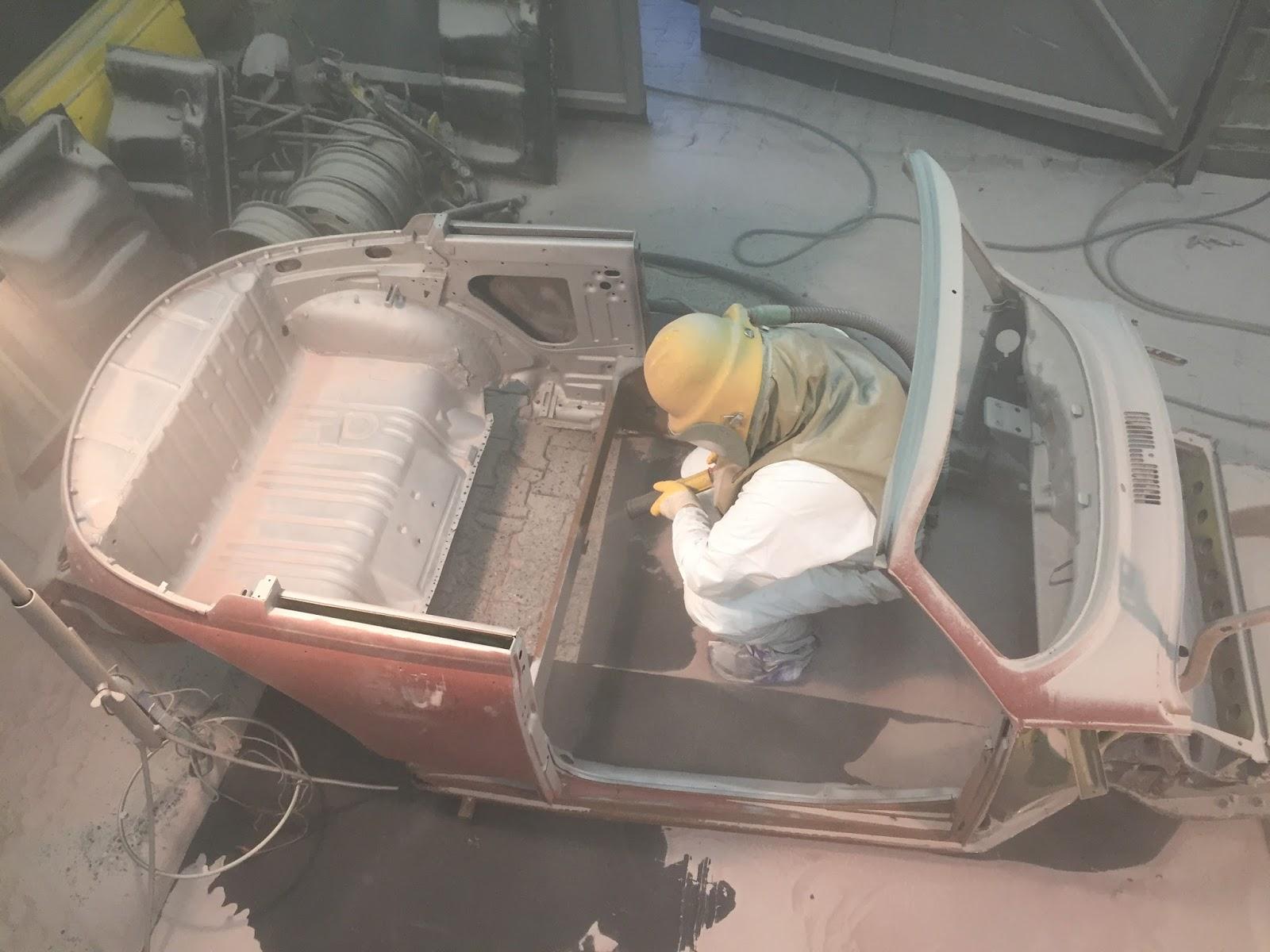 beetle factory blog: 1303 beim sandstrahlen