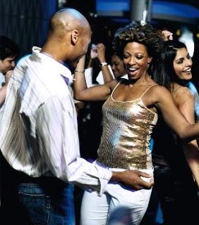 Intelligible black couple uses white submissive couple