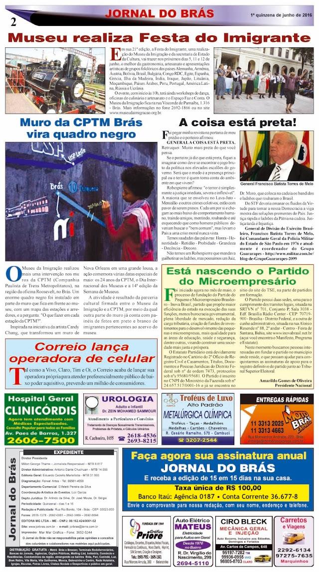 Destaques da Ed. 296 - Jornal do Brás