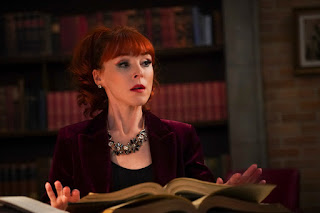 "Ruth Connell as Rowena in Supernatural 14x14 ""Ouroboros"""