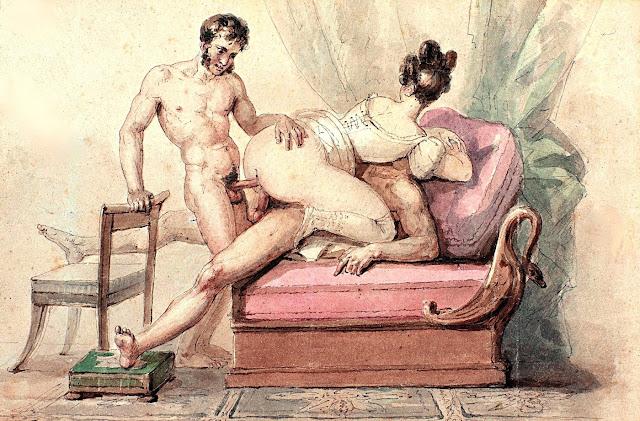 Paul Chenavard - Ménage à trois - pornografia