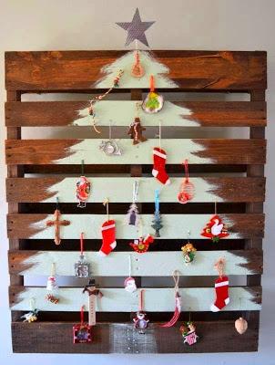 Αφιέρωμα στα Χριστούγεννα-Χριστουγεννιάτικα δέντρα από απλά υλικά