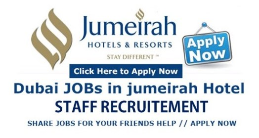 HOTEL MANAGEMENT JOBS IN  JUMEIRAH GROUP