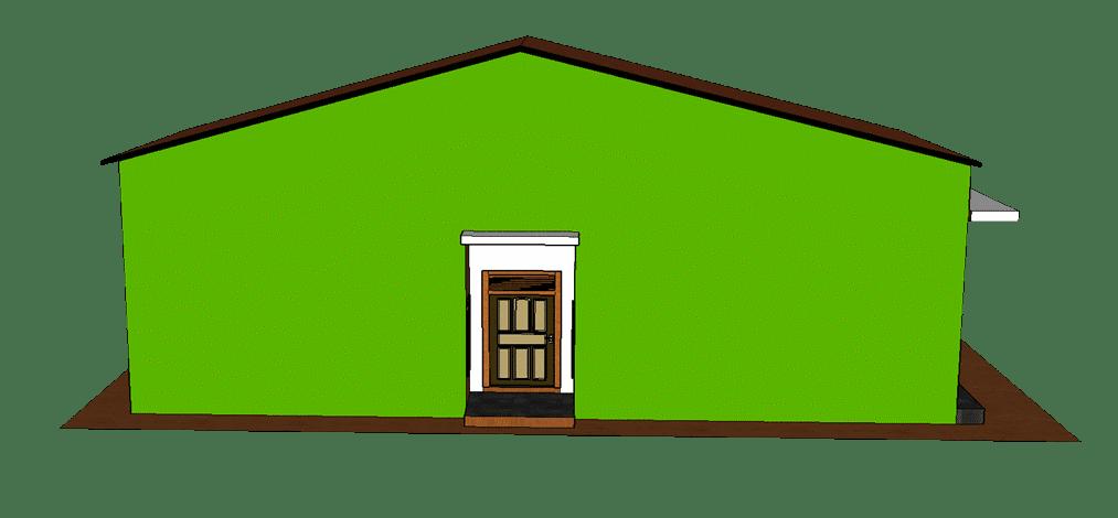 Tampilan desain sisi kiri rumah