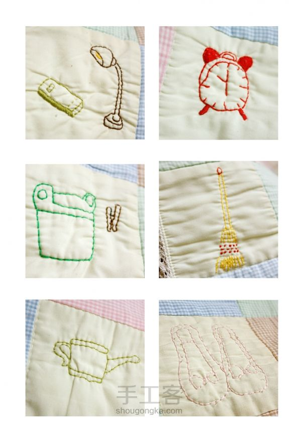 Patchwork Quilt with Embroidery. Лоскутное одеяло с вышивкой