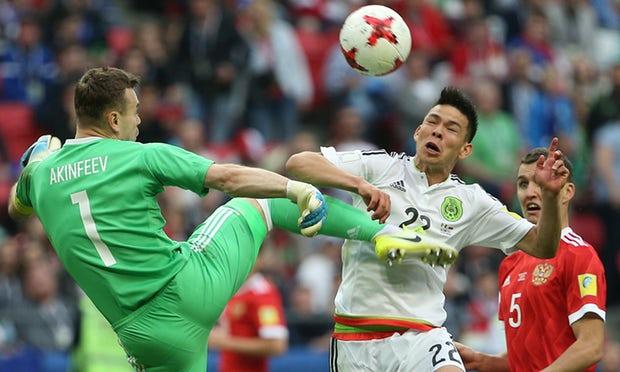 Rusia bertempur dengan gagah berani di Kazan namun tuan rumah tidak dapat menghindari eliminasi awal dari Piala Konfederasi