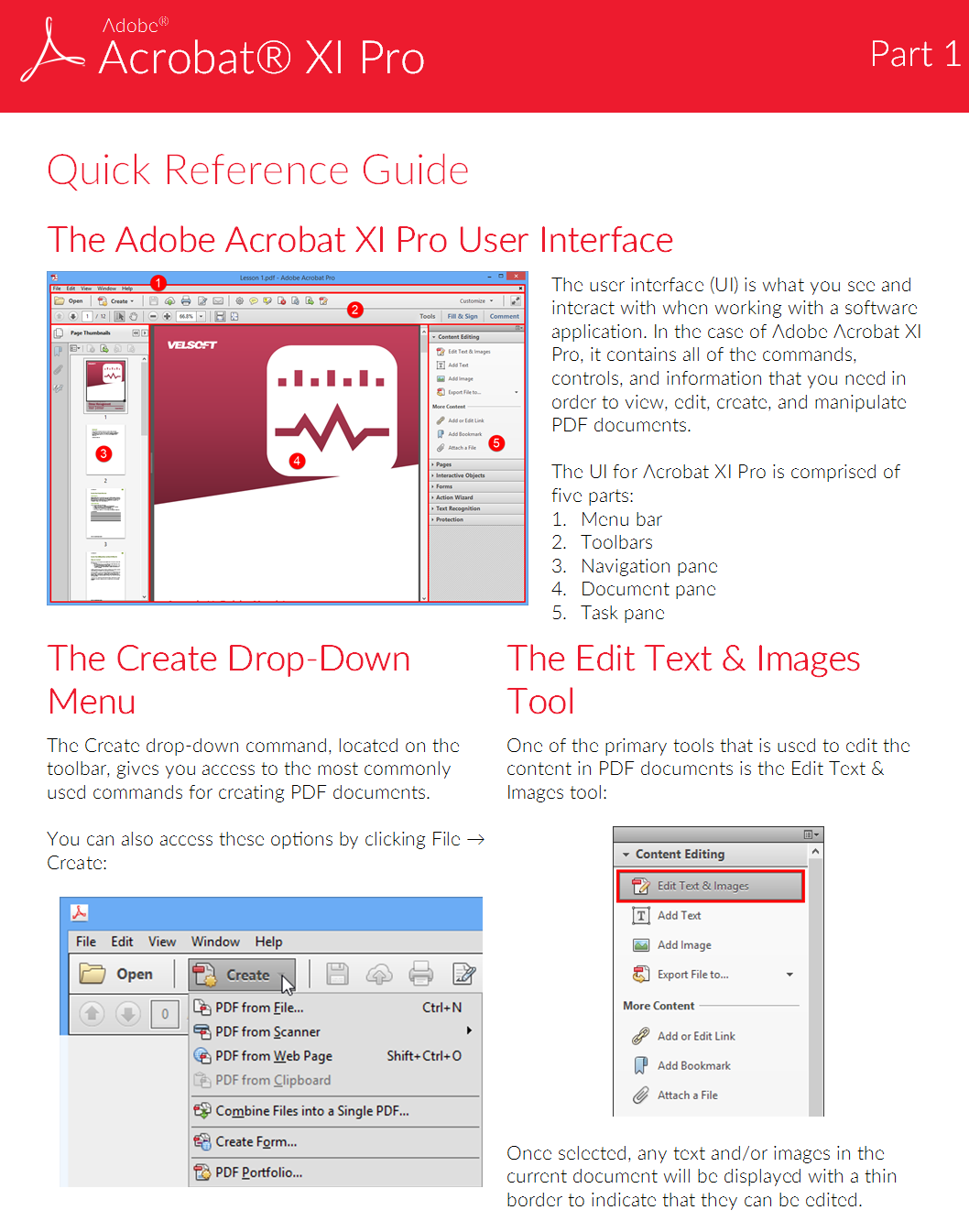 Charis Alexandra Training Adobe Acrobat Xi Pro Quick Reference Guide