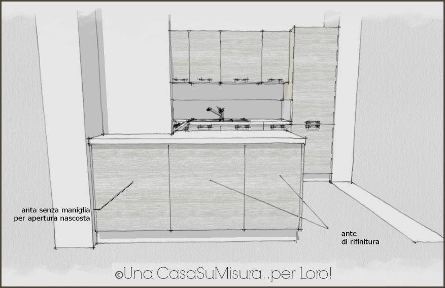 Una casasumisura per loro una casasumisura per voi la cucina di sabrina - Misure isola cucina ...