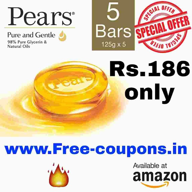 Amazon offers - Buy Pears Pure And Gentle Bathing Bar Rs 186 only