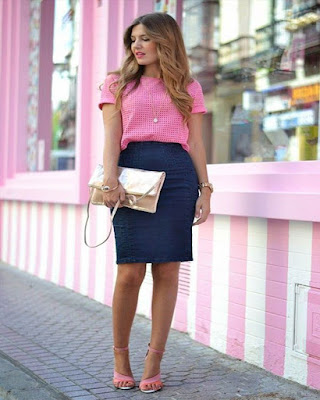 outfit pink work for summer