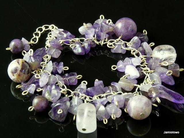 biżuteria ręcznie robiona -ametysty