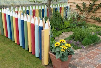 wooden fence decorating painting ideas