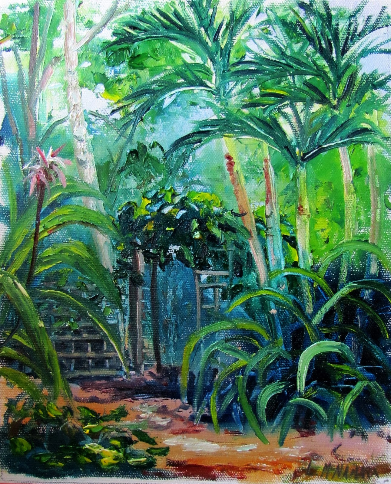 Heathcote Botanical Gardens: Lori's Stormy Art And Daily Paintings: 1628 Crinum Lily At