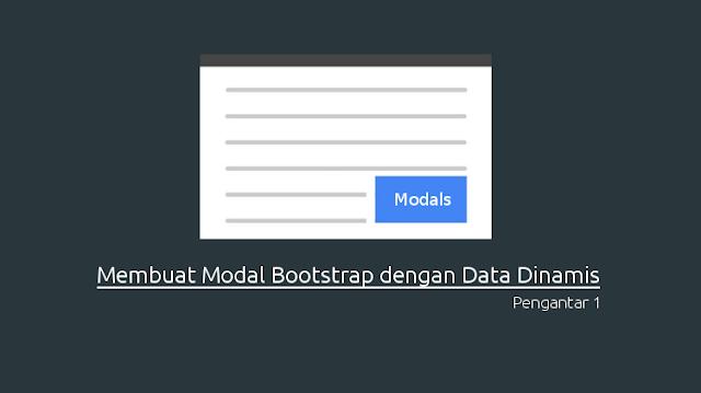 Modal bootstrap dengan data Dinamis