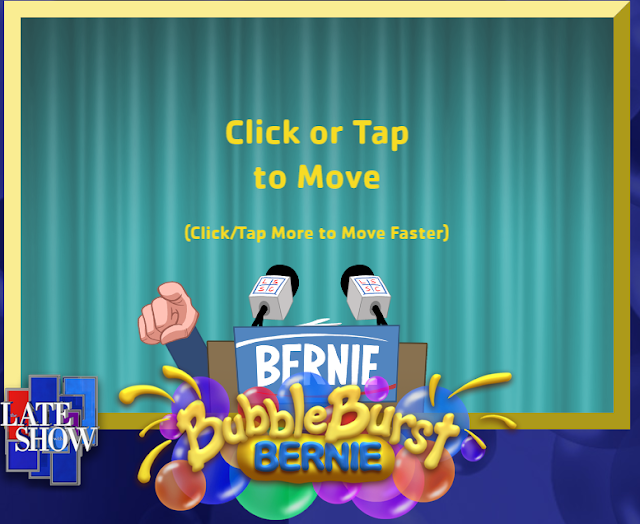 Bernie Bubble Burst loading title screen controls directions instructions click or tap to move