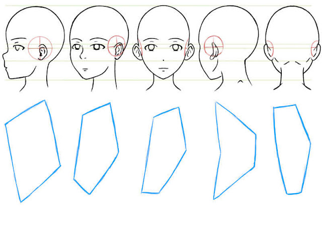 Faire des formes polygonales pour dessiner les oreilles