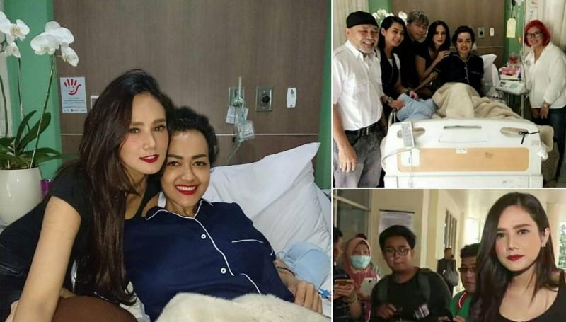 Mulan Jameela mengunjungi Julia Perez
