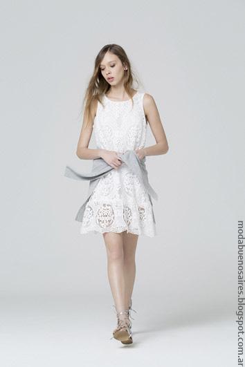 Vestidos de moda verano 2017 ropa de mujer Carmela Achaval.