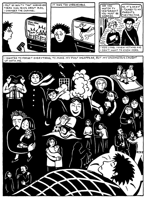 Read Chapter 5 - The Vegetable, page 40, from Marjane Satrapi's Persepolis 2 - The Story of a Return