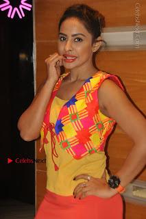 Telugu Actress Model Sri Reddy Latest Stills in Yellow Dress  0010.JPG