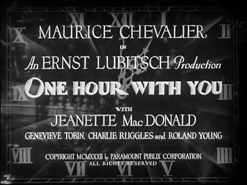 Title Card One Hour with You 1932