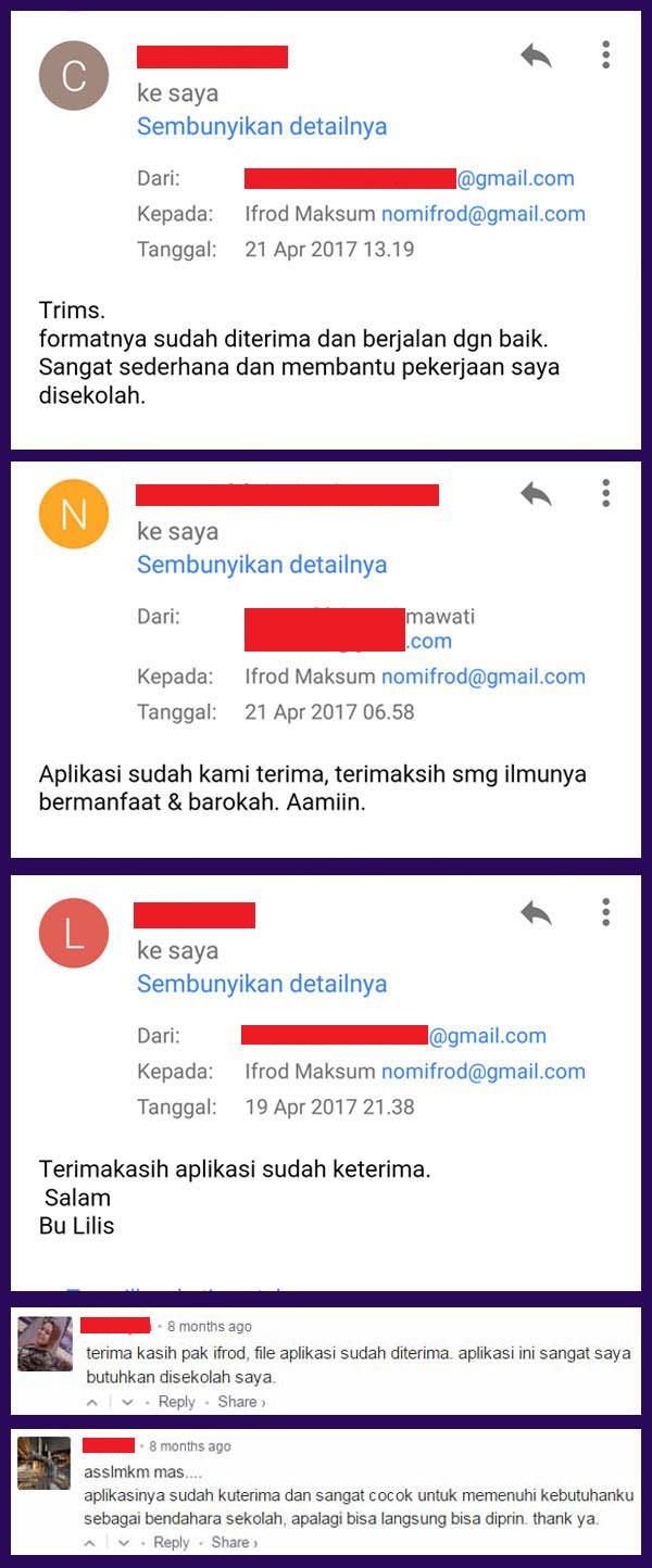 tanggapan pembeli aplikasi kas sekolah