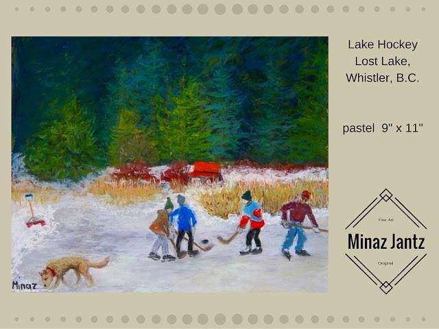Lake Hockey by Minaz Jantz