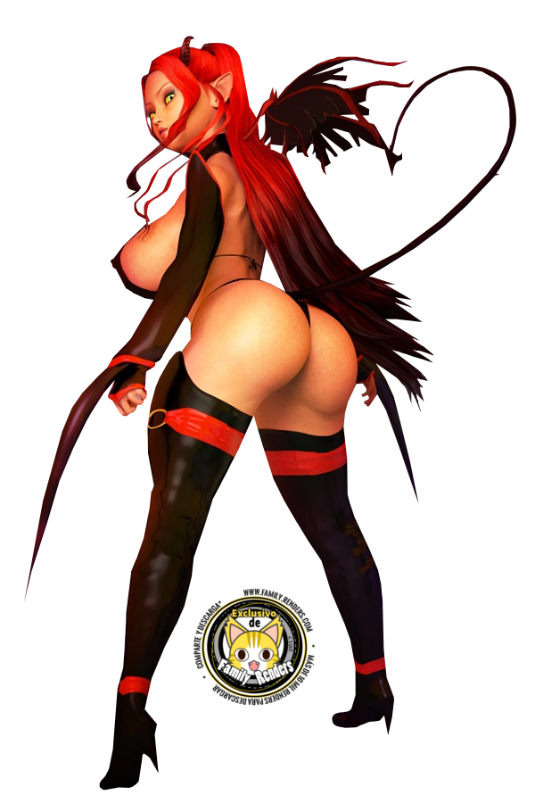 render demon girl
