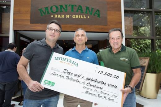 Montana Bar N' Grill entrega doações à entidades de Campinas