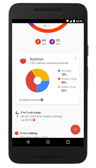 Google Fit now pulls in data from third-party food, fitness