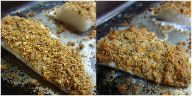 Breadcrumb Crusted Cod