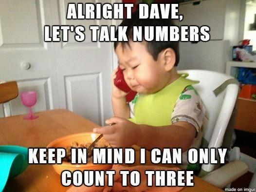 Funny Let's Talk Numbers Kid Joke Picture Meme