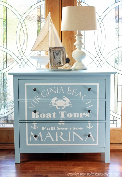 Paint a Dresser Makeover Ideas Graphics Designs Words Stencils