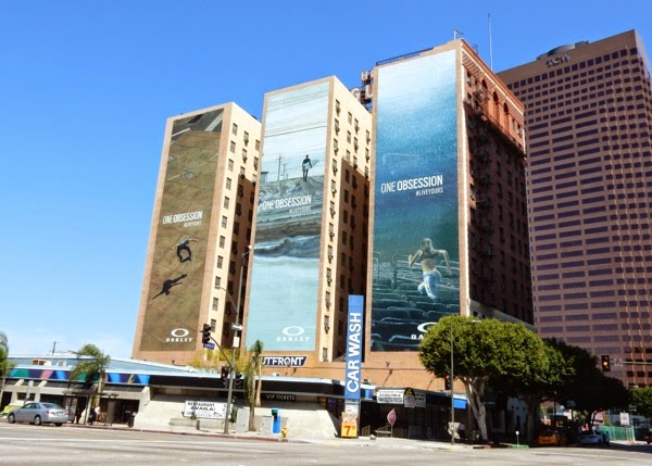 Giant Oakley One Obsession billboards DTLA