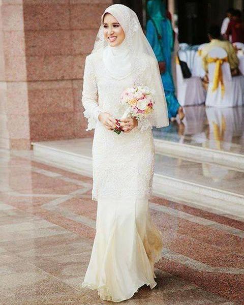 Gambar Model Kebaya Putih Muslim Terbaru Untuk Akad 2014