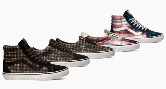 Vans Distressed Plaid Classics Collection
