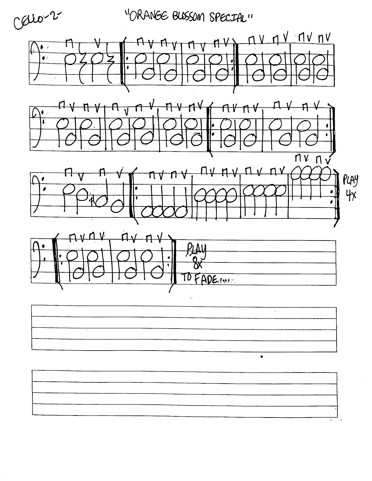 Miss Jacobson S Music Orange Blossom Special Music Worksheets