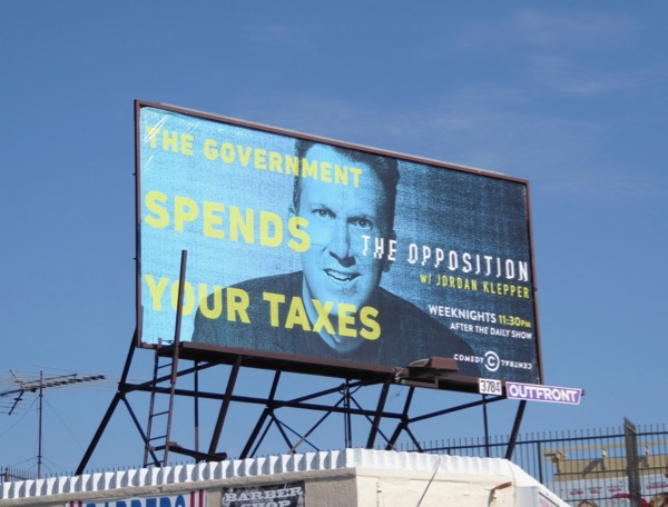 Opposition government spends your taxes billboard