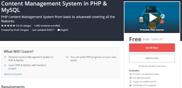 [100% Off] Content Management System in PHP & MySQL|Worth 200$
