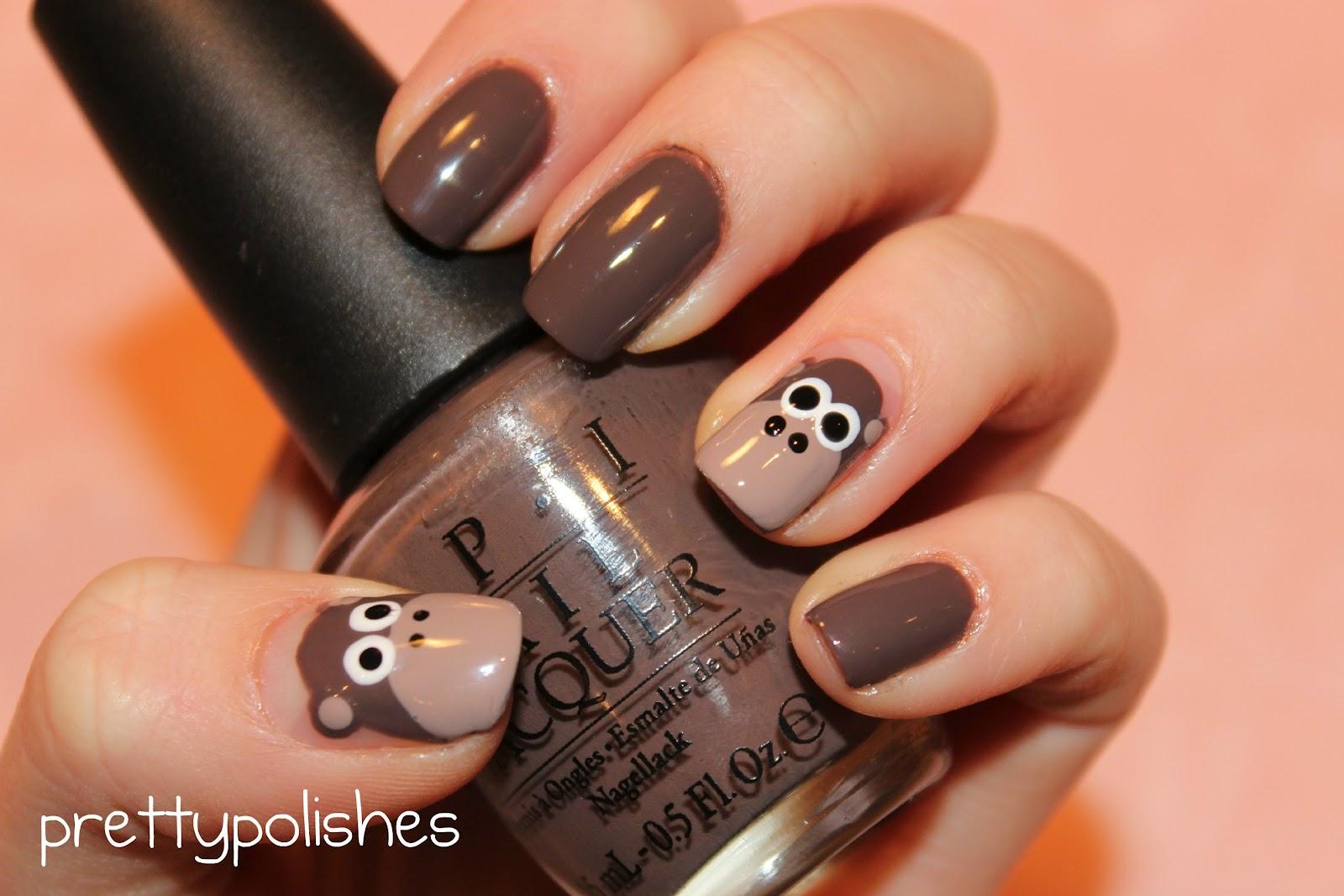 prettypolishes: Monkey Nails!